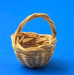 Mini Wood Reed German Basket Figurine
