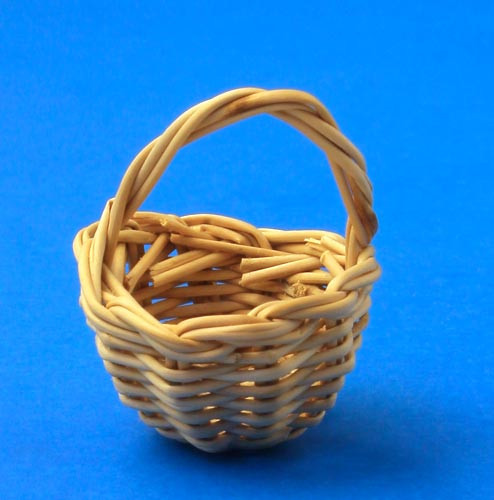 Mini Wood Reed German Basket Figurine