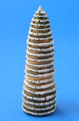 Green White Shaved German Tree Figurine 90mm