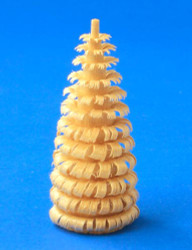 Shaved Natural Wood Ring Tree Figurine 50mm