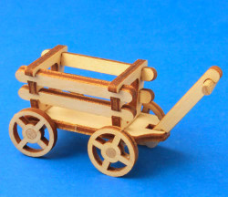 German Figurine Wooden Wagon
