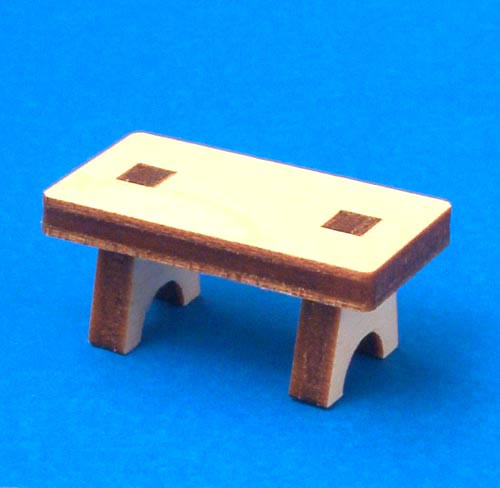 German Figurine Wooden Bench