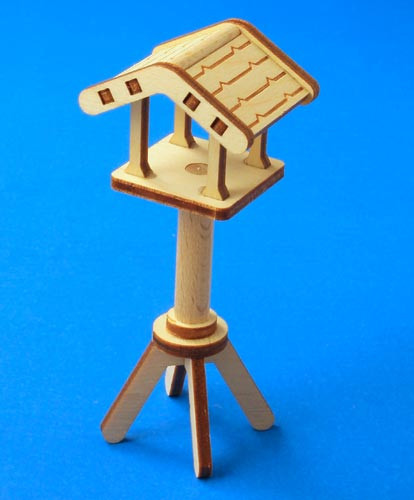 German Figurine Wooden Bird Feeder