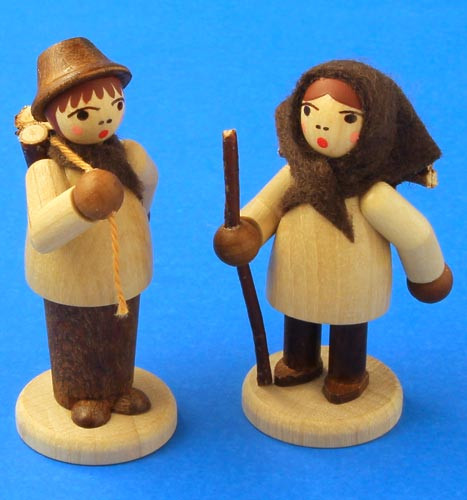 German Figurine Wooden Forest Kids