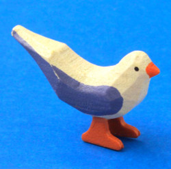 German Figurine Wooden Mini Dove