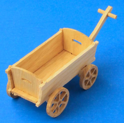 German Figurine Wooden Wagon Lg