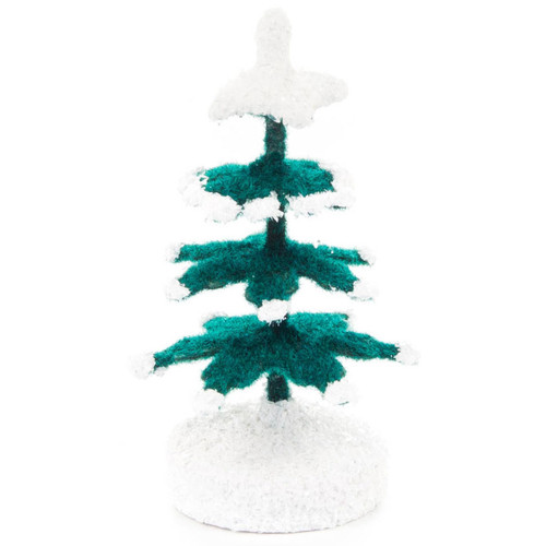 Wooden Green White German Tree Figurine 51mm RP256X012
