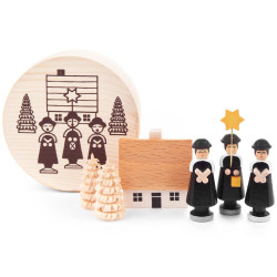 Carolers Houses German Figurine