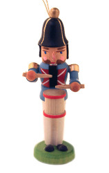 Nutcracker Drummer German Ornament Gray ORD074X193X1F