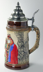German Men Waitress Beer Stein K300xBSx1xRU