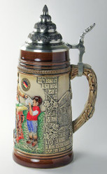 German Child Men Waitress Beer Stein K300xBSx3xRU