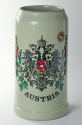 Austria Double Eagle 1 Liter Beer Stein K0400xSxAUSx1LT