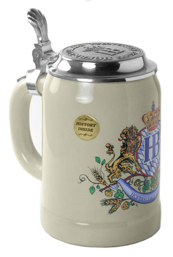 Hofbrauhaus Munich Lion Crest German Beer Stein K1000x057