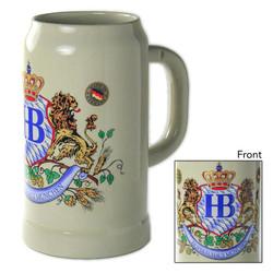 Hofbrauhaus 1 Liter Lion Crest German Beer Stein K1000x059