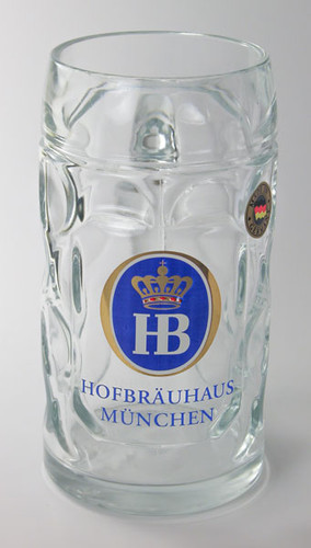 Hofbrauhaus Munich HB Crown German Beer Glass Mug