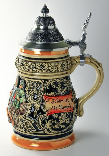 Party Scene German Beer Stein K1298BZ