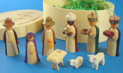 Color Nativity Figurine Box Set