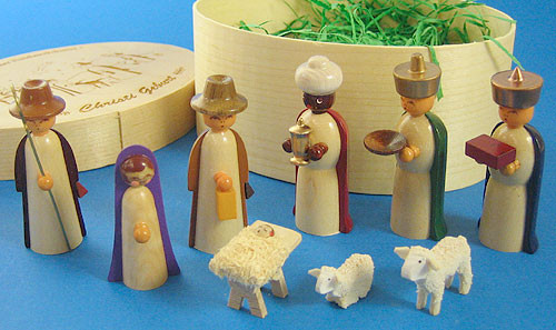 Color Nativity Figurine Box Set