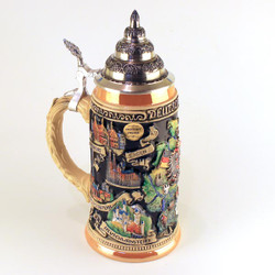 German City Maps Handpainted .75 Liter Beer Stein