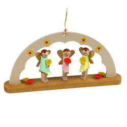elf arch german christmas ornament orr135x81 - German Handmade Wooden Christmas Decorations