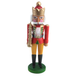 Mini Nutcracker King Red Tunic Gold Crown NCD074X035RW