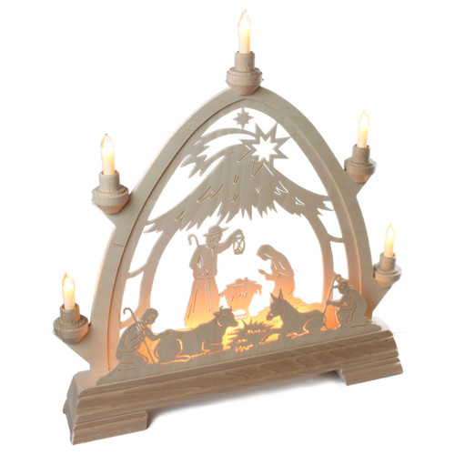 german nativity christmas schwibbogen candle arch. Black Bedroom Furniture Sets. Home Design Ideas