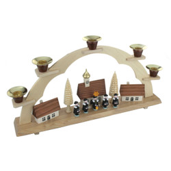 Carolers Village German Schwibbogen Candle Arch CHD202X004N