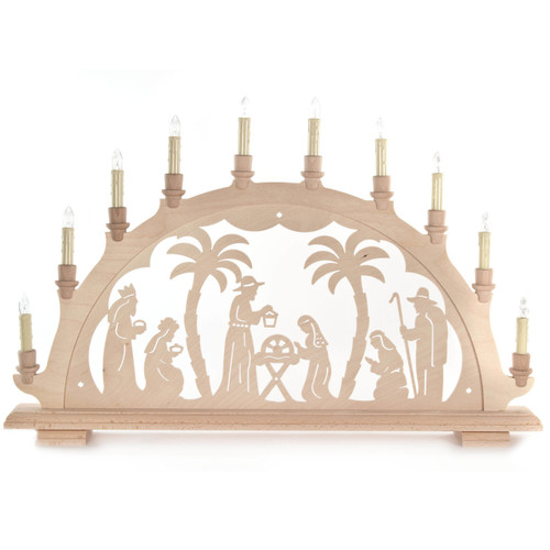 german electric nativity christmas schwibbogen candle arch. Black Bedroom Furniture Sets. Home Design Ideas