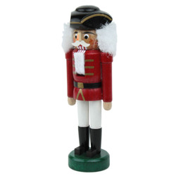 Miniature Red and White German Nutcracker NCD071X004