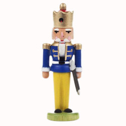 Nutcracker Ornament Blue Coat