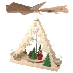 santa gifts christmas tree german pyramid pyd085x832 - German Christmas Pyramid Kit