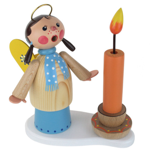 Angel Girl with Candle German Smoker SMD146X1654