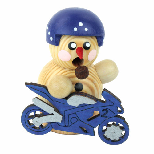 Blue Biker Mini Smoker Round SMD136X175B