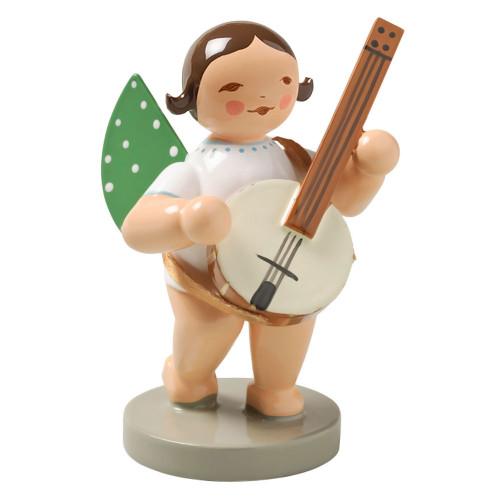 Wendt Kuhn Brunette Angel Banjo Figurine FGW650X59F-DK