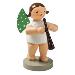 Brunette Angel English Horn Figurine Wendt Kuhn Standing FGW650X69-DK