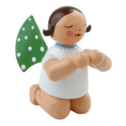 Wendt Kuhn Brunette Angel Kneeling Figurine FGW650X13X6PR-DK