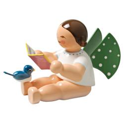 Wendt Kuhn Brunette Angel Songbook Bird Figurine FGW650X12A-DK