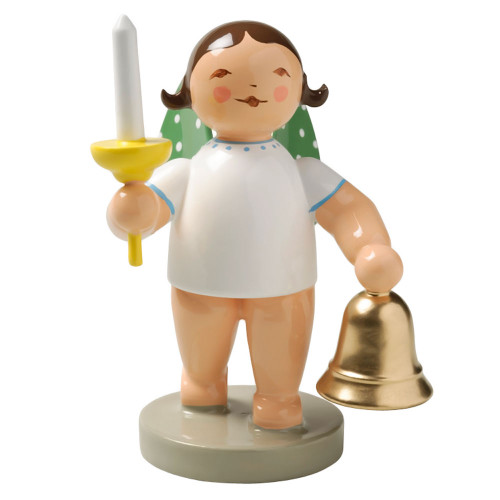 Brunette Angel Bell Candle Figurine Wendt Kuhn FGW650X53-DK
