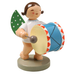 Brunette Angel Little Bass Drum Figurine Wendt Kuhn FGW650X9