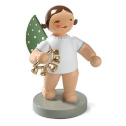 Brunette Angel Bell Wreath Figurine Wendt Kuhn Standing FGW650X73-DK