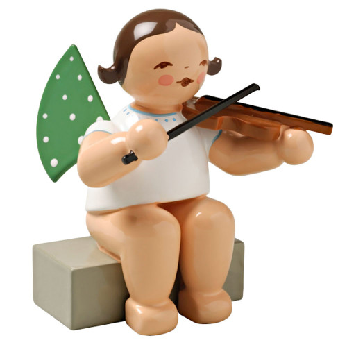 Wendt Kuhn Angel Violin Figurine Sitting