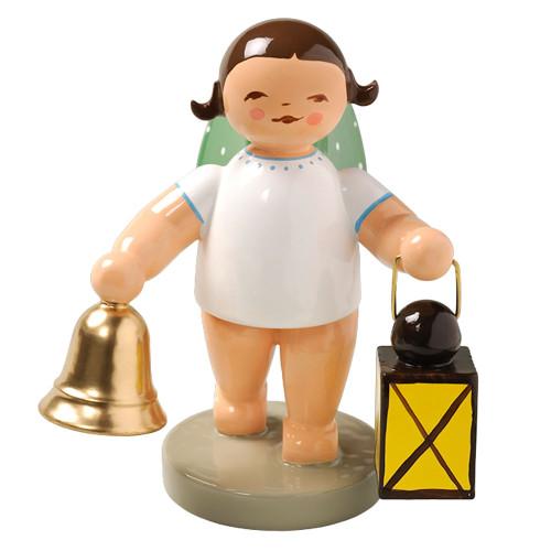 Brunette Angel Bell Lantern Figurine Wendt Kuhn FGW650X37-DK