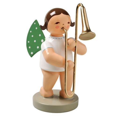 Brunette Angel Trombone Figurine Wendt Kuhn FGW650X29-DK