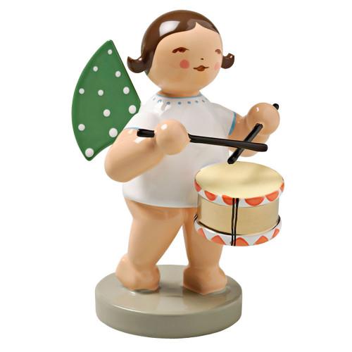 Wendt Kuhn Brunette Angel Drum Figurine FGW650X10-DK