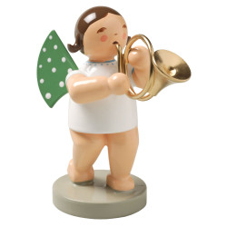Wendt Kuhn Brunette Angel French Horn Figurine FGW650X17