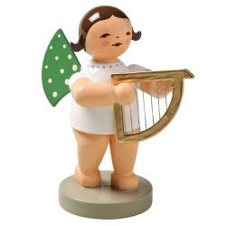 Brunette Angel Small Harp Wendt Kuhn Figurine FGW650X14B-DK