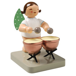 Brunette Angel Kettle Drums Figurine Wendt Kuhn FGW650X25-DK