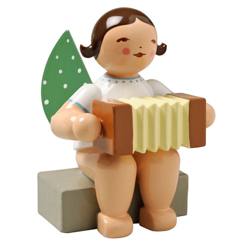 Brunette Angel Concertina Figurine Wendt Kuhn Sitting FGW650X8A-DK