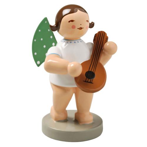 Brunette Angel Mandolin Figurine Wendt Kuhn FGW650X4-DK