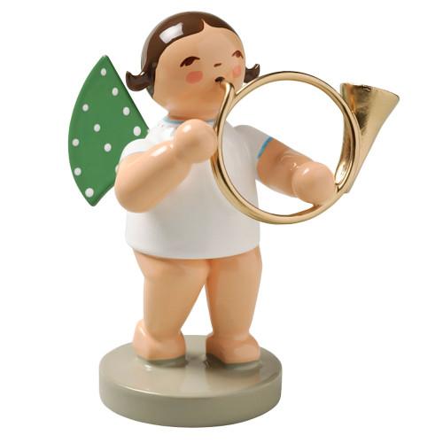 Brunette Angel Bass Horn Figurine Wendt Kuhn FGW650X46-DK